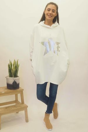 The Mickey Cut Out Hoody White