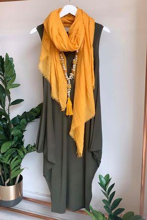 The Midi Parachute Dress Khaki