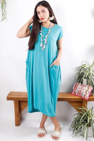 The Midi T Shirt Dress Ultra Azure