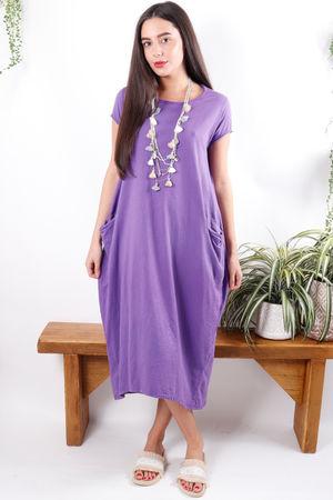 The Midi T Shirt Dress Ultra Violet