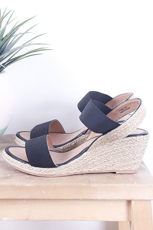 The Midi Wedges Black
