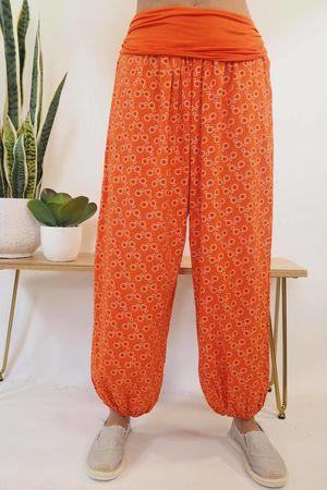 The Mini Mandala Balloon Pant Tangerine