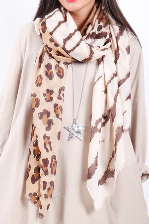 The Mixed Animal Scarf Neutral