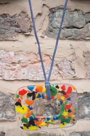The Mondrian Perspex Necklace Multi