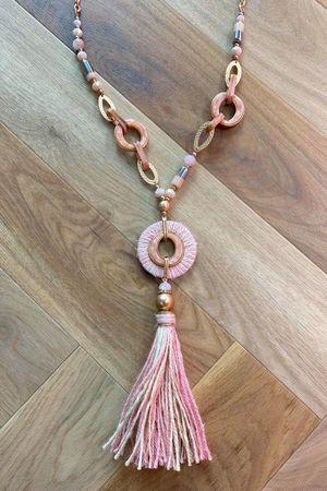 The Mykonos Tassel Necklace Pinks