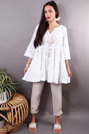 The Mykonos Tunic Dress White