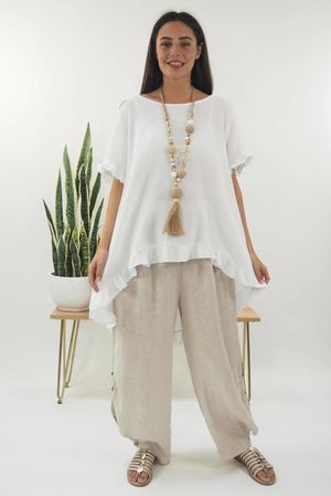 The Negril Frill High Low Top White