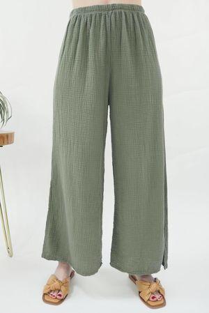 The Negril Sexi Split Pant Khaki