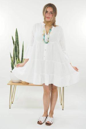 The Negril Smock Dress White