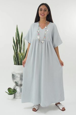 The Negril Smock Maxi Dress Dove