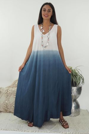 The Ombre Dipped Maxi Denim