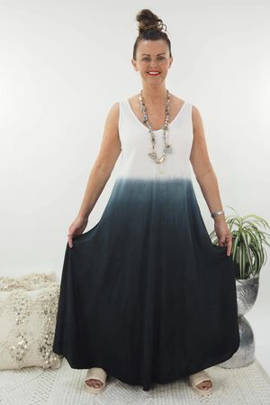 The Ombre Dipped Maxi Graphite