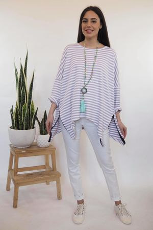The Oversized Breton Zippi Lilac