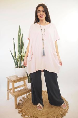 The Oversized La Boulle Summer Top Blush