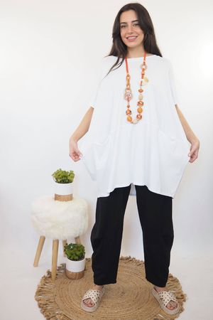 The Oversized La Boulle Summer Top White