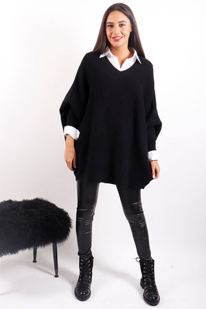 The Oversized Ribby Black