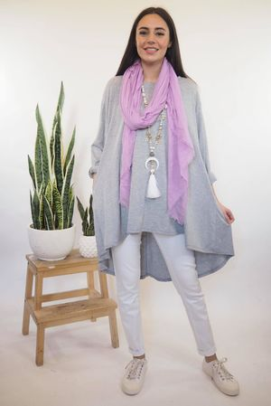 The Oversized Trapeze Top Grey Marl