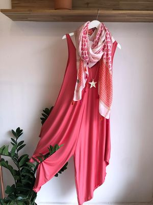 The Parachute Jumpsuit Coral Rose