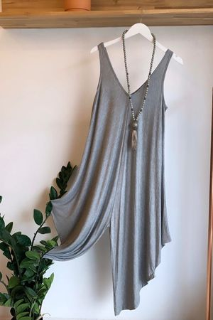 The Parachute Jumpsuit Grey Marl