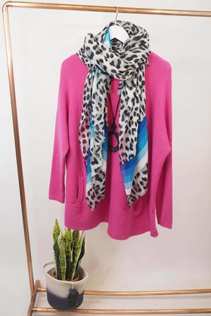 The Pocket Swing Knit Hot Pink
