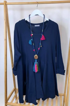 The Pocketed Peasant Top Navy