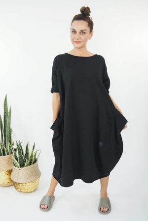 The Polly Cocoon Dress Black