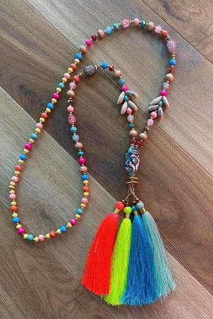 The Portinatx Tassel Necklace Brights