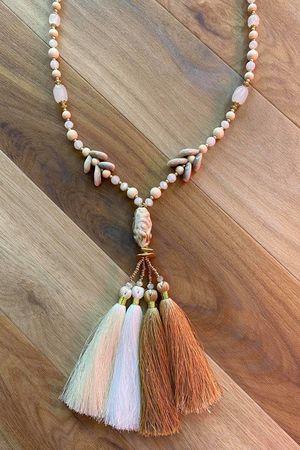 The Portinatx Tassel Necklace Naturals