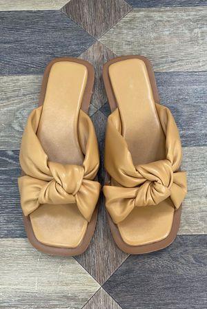 The Pouffy Knots Tan