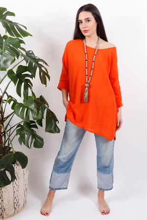 The Pure & Simple Top Tangerine