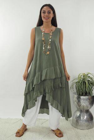 The Ra Ra Dress Khaki