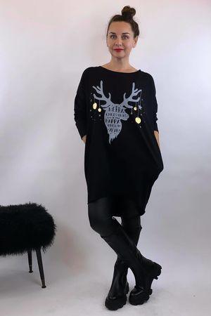 The Reindeer Popoon Tunic Black