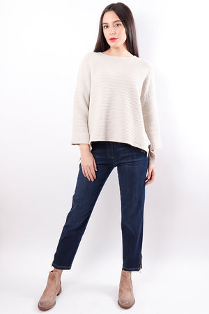 The Ribby Box Knit Cream