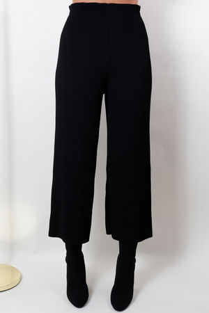 The Ribby Culotte Pant Black