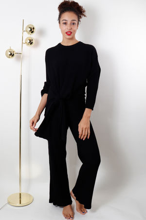The Ribby Palazzo Suit Black
