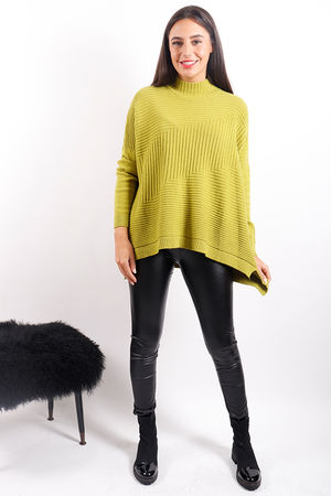 The Ribby Turtle Knit Lime