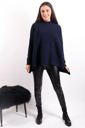 The Ribby Turtle Knit Navy