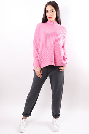 The Ribby Turtle Knit Pink