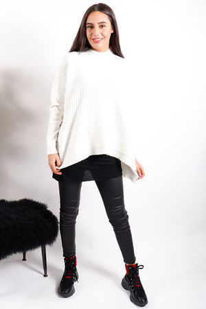 The Ribby Turtle Knit Winter White