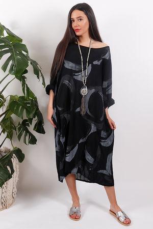 The Rio Swirl Dress Black