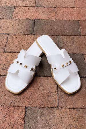 The Rock Stud Sandal White