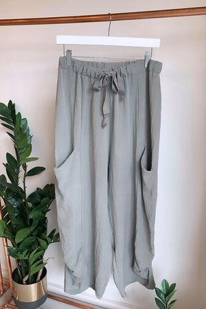 The Ruche Pant Taupe