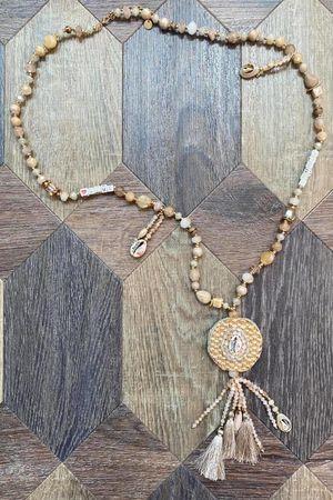 The Sacramento Tassel Necklace Neutrals