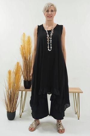The Sahara Dip Side Dress Black