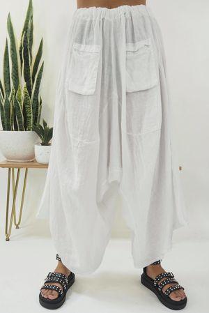 The Sahara Lux Harem Pant White