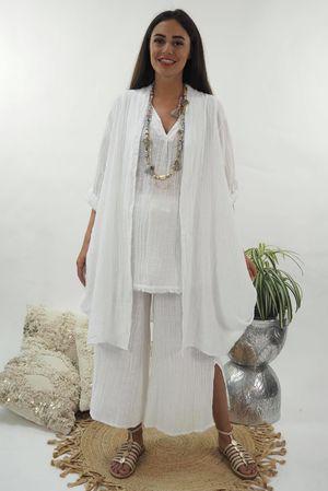 The Sahara Sexi Slouch Jacket White
