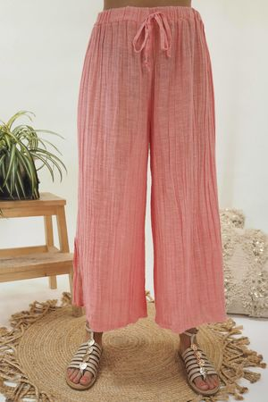 The Sahara Sexy Split Pant Washed Coral