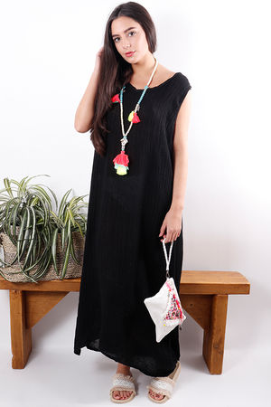 The Sahara Sleeveless Maxi Black