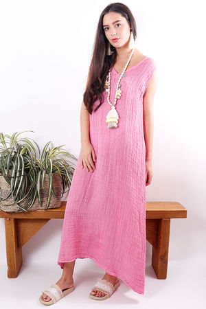 The Sahara Sleeveless Maxi Faded Bubblegum