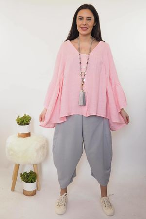 The Sahara Smock Top Washed Candy